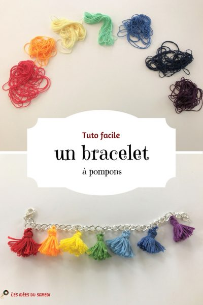 tuto facile bracelet pompon