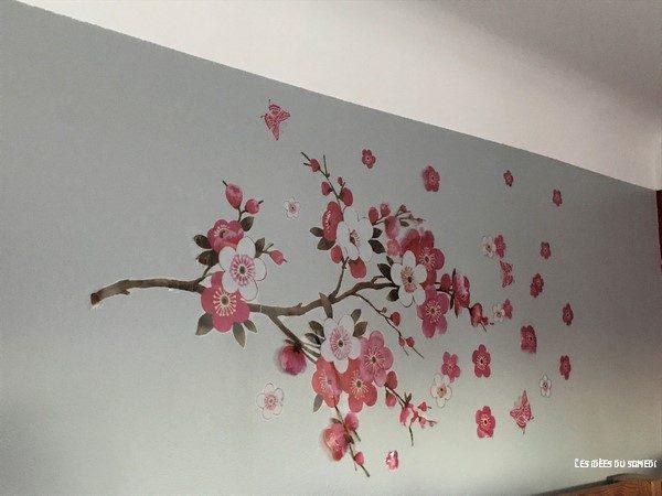 sticker mural cerisier sakura