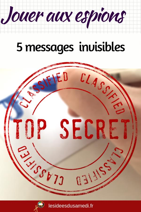 message invisible jeu espion