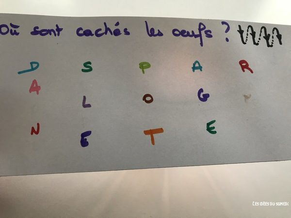 message lettres cachees