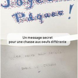 message secret chasse aux oeufs originale
