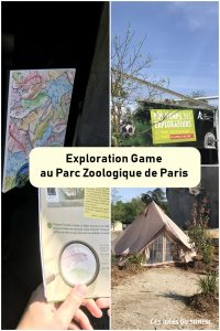 exploration game zoo paris