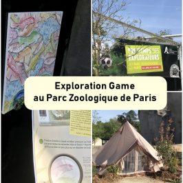 exploration game zoo paris