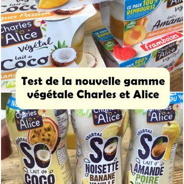 On a testé les petits derniers de Charles et Alice, des goûters et des desserts peu sucrés et aux laits végétaux