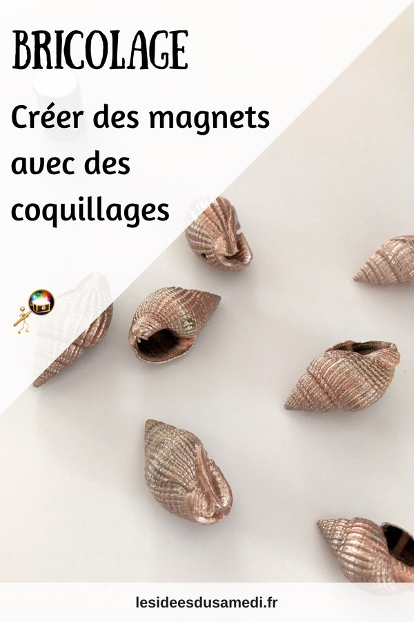 fabriquer magnet coquillage