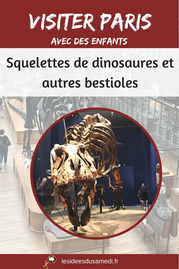 visiter paris enfants dinosaures
