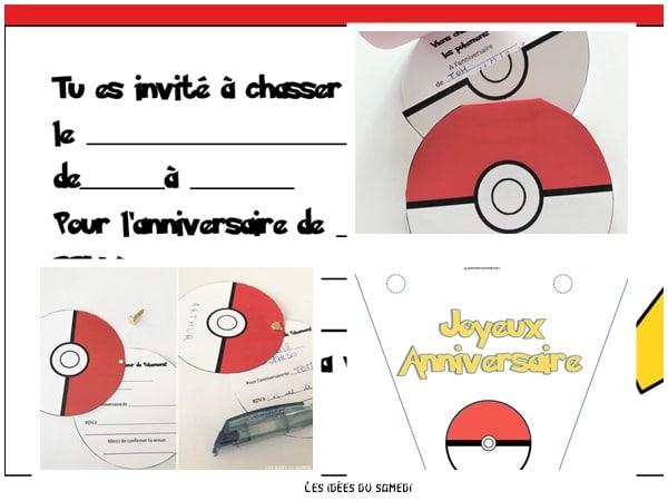 Anniversaire Pokemon Invitation Diplômes Et Déco En