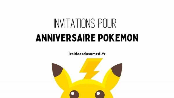 invitation anniversaire pokemon imprimer