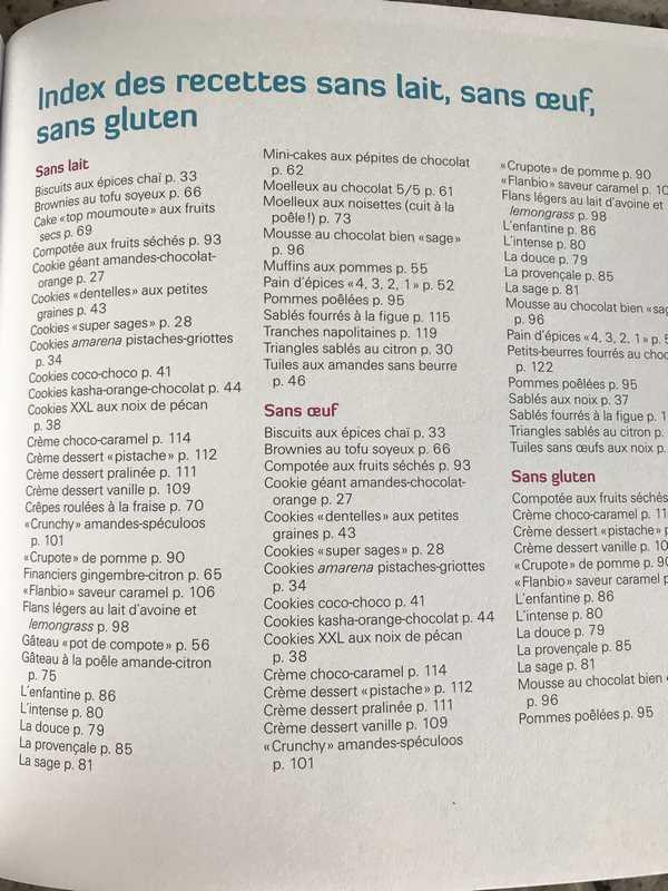 livre recettes sans GLO