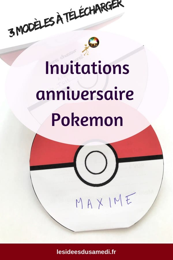 telecharger invitations anniversaire pokemon