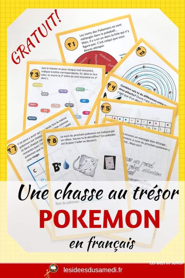 chasse au tresor pokemon imprimer gratuitement
