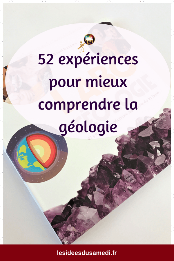 experience scientifique enfant geologie