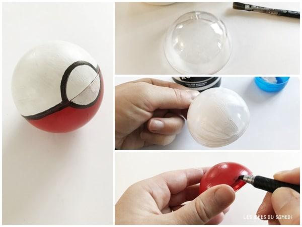 comment fabriquer une pokeball simplement