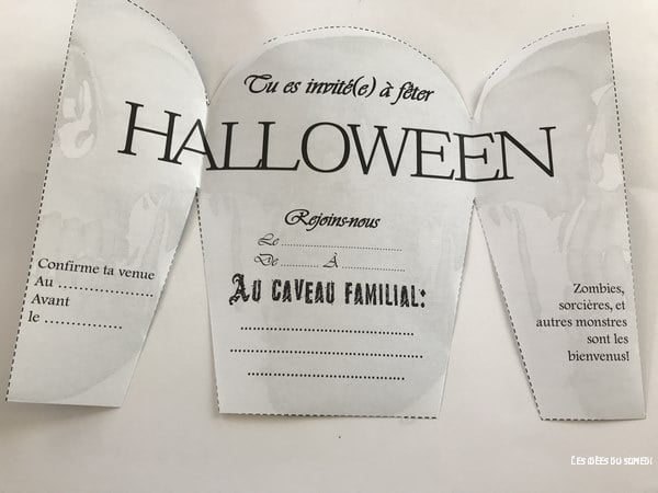 invitation halloween pierre tombale