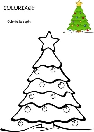 coloriage sapin noel telecharger