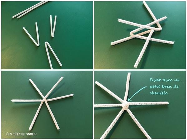 fabriquer flocon fil chenille