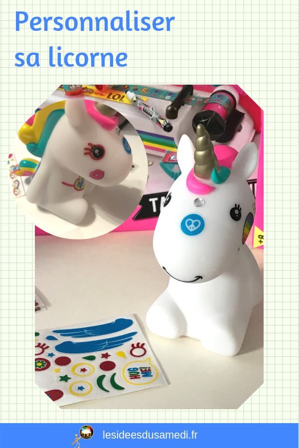 test diy licorne customiser