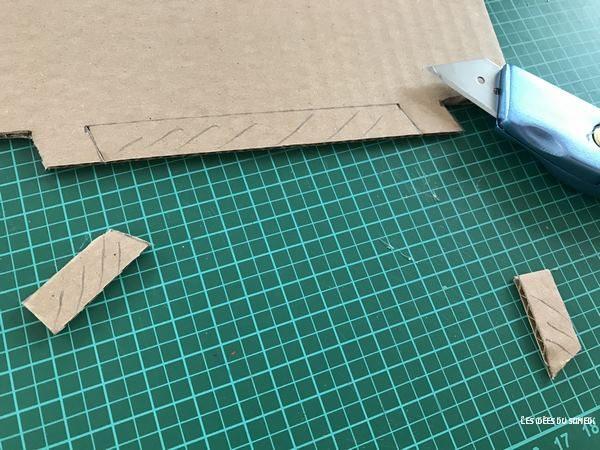 decoupage chateau carton demontable