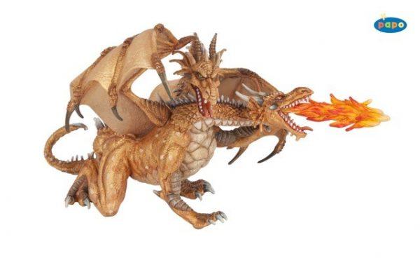 dragon deux tetes or