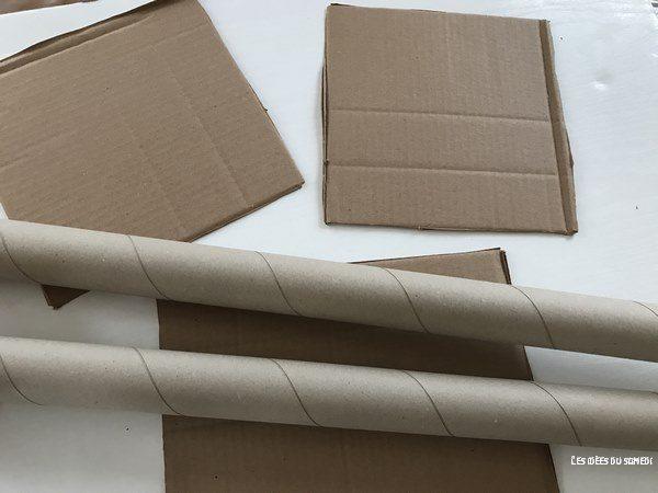 bricolage facile chateau rouleau carton