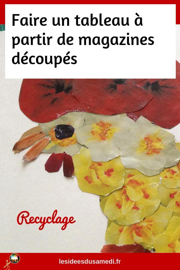 recyclage vieux magazine activite manuelle