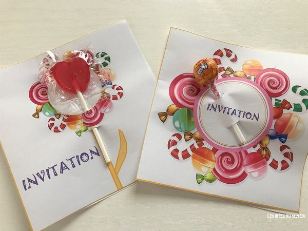 invitation anniversaire bouquet de bonbons telecharger