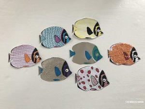 banc de poissons a imprimer
