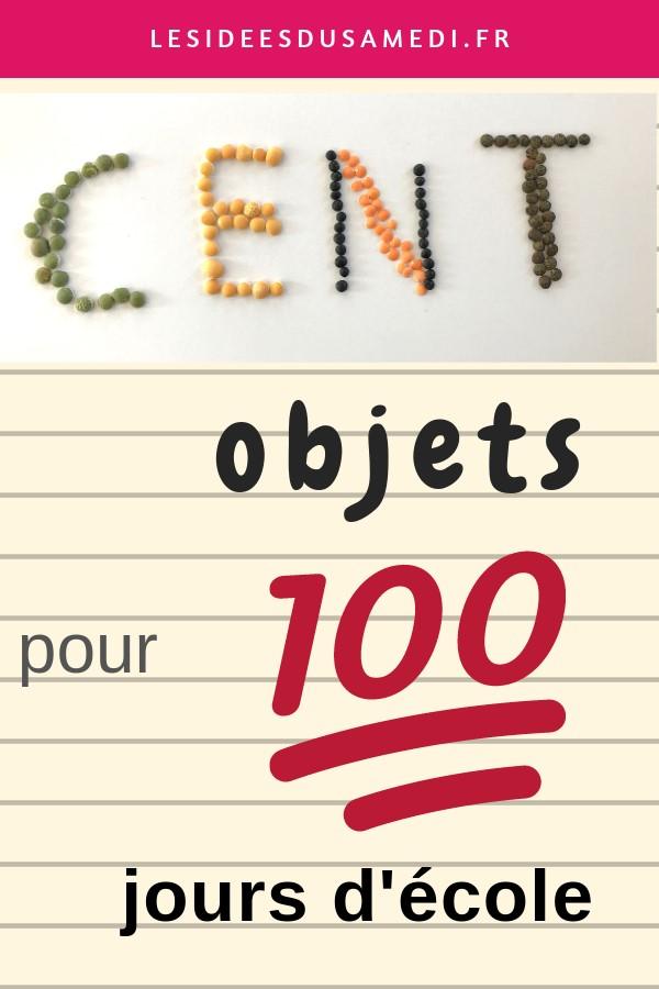 cent objets 100 jours ecole