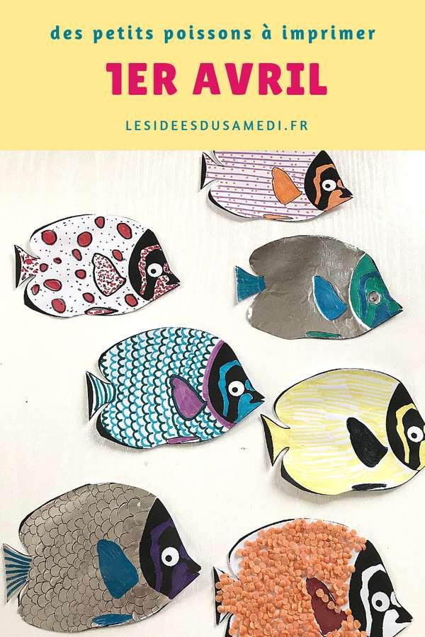 imprimer poissons avril activite graphisme