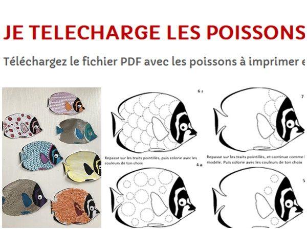 modele pdf gratuit poissons avril graphisme