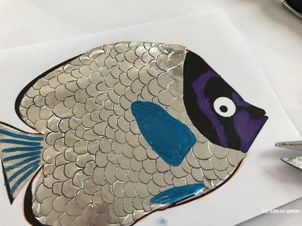 colorier poisson avril brillant