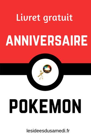 anniversaire pokemon pour les nuls