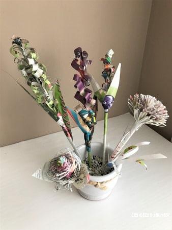 bouquet fleurs en papier