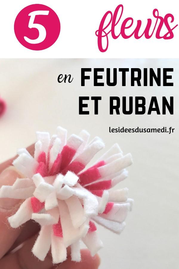 comment fabriquer fleurs en feutrine ruban