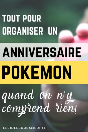 comment organiser anniversaire pokemon