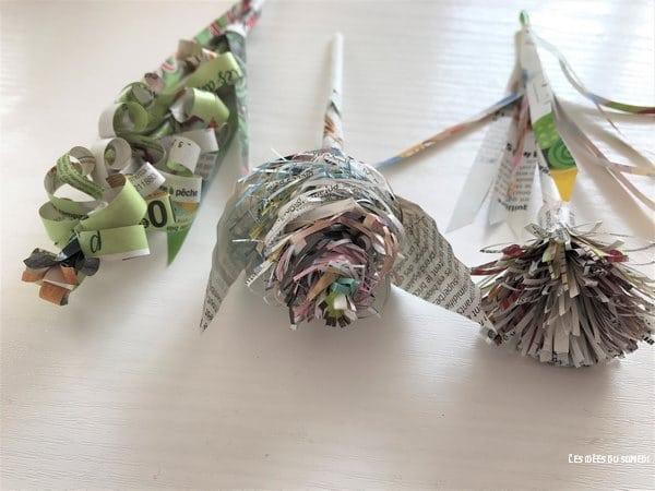 fabriquer fleurs en papier magazine pub catalogue