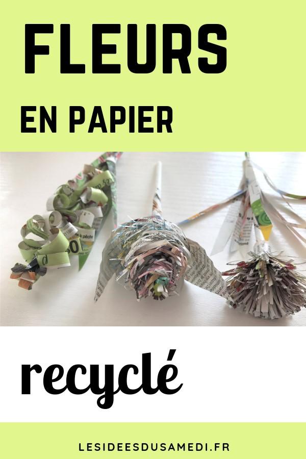 comment faire des fleurs en papier avec de vieux magazines