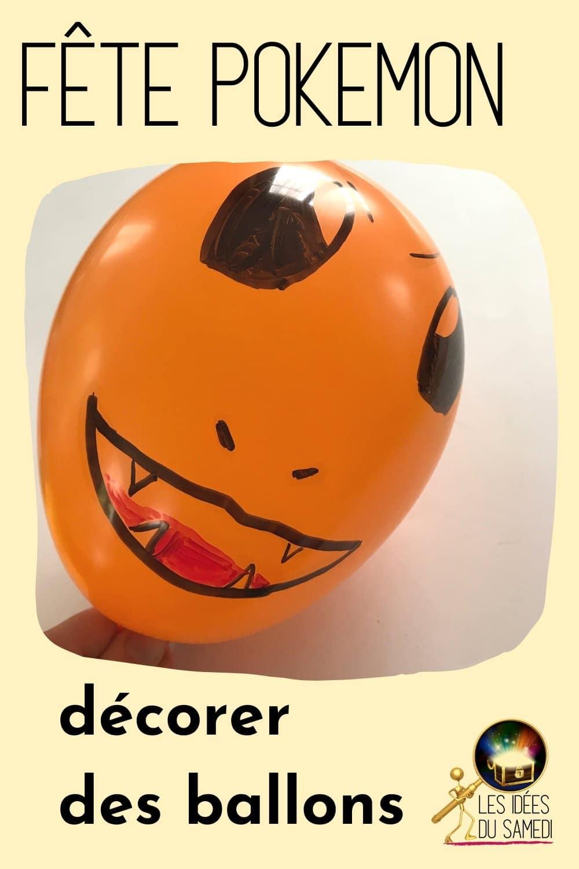 fete pokemon ballon