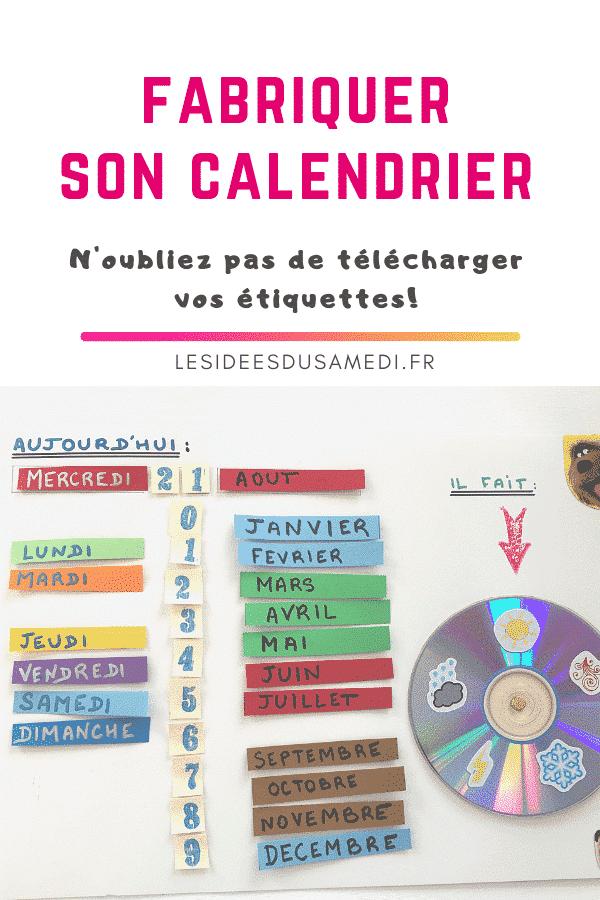 etiquette telecharger fabriquer calendrier