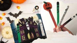 bricolage facile halloween batons glace iddusamedi