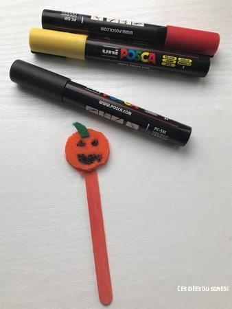 bricolage halloween maternelle citrouille