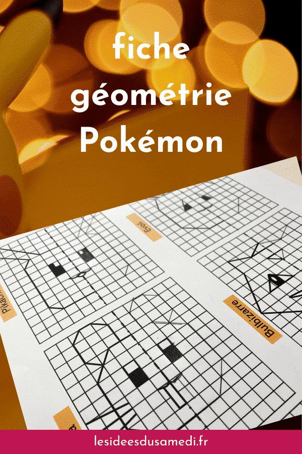 fiche activite geometrie pokemon telechargement