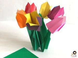bouquet tulipe oigami activite enfant