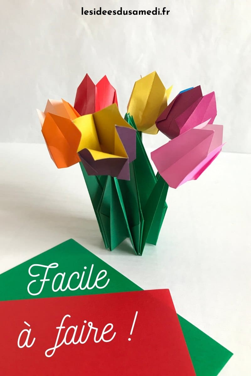 bouquet tulipes origami facile