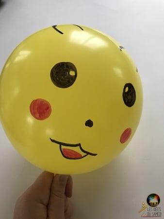 decorer ballon pikachu