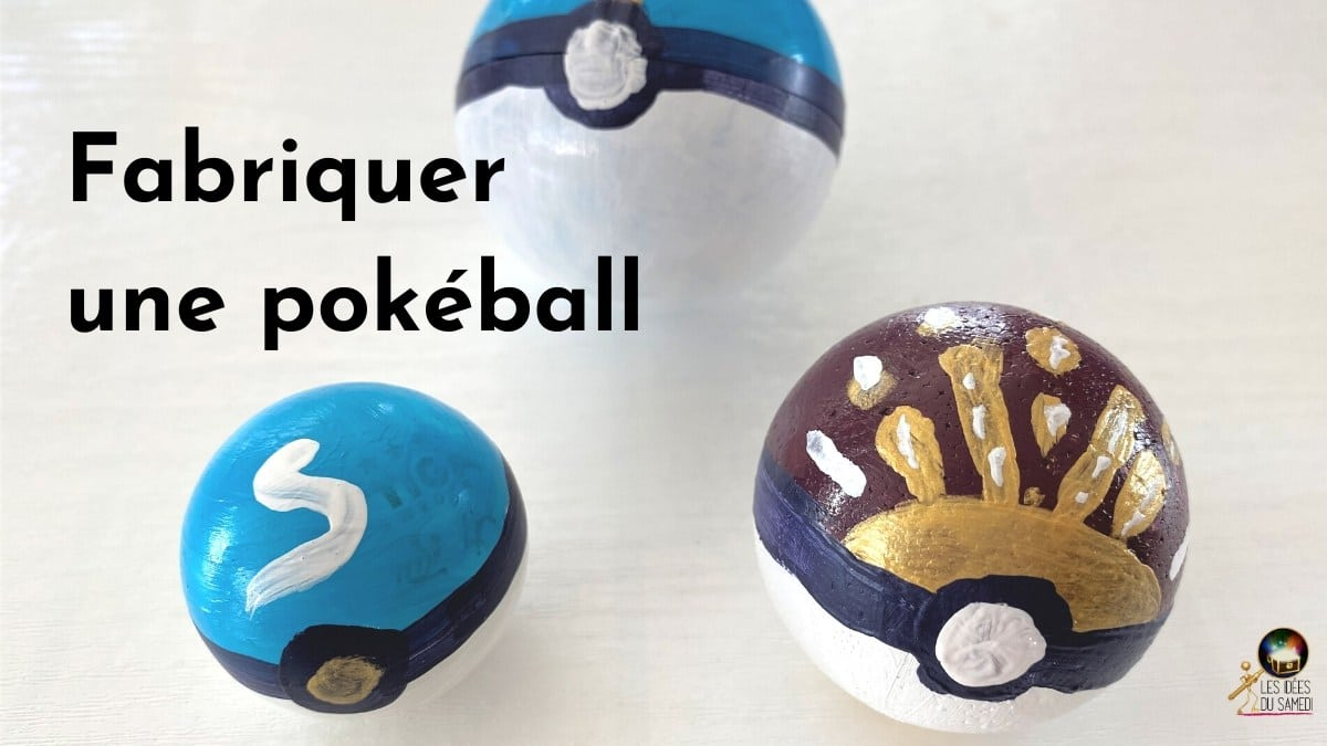 Fabriquer une pokeball avec votre enfant