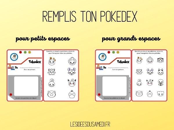 imprimer pokedex jeu pokemon