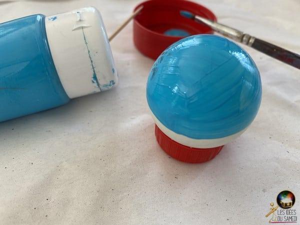 peinture fabriquer pokeball