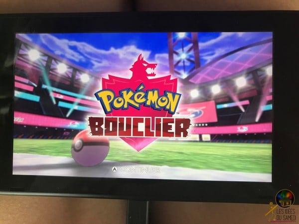 pokemon bouclier debut jeu