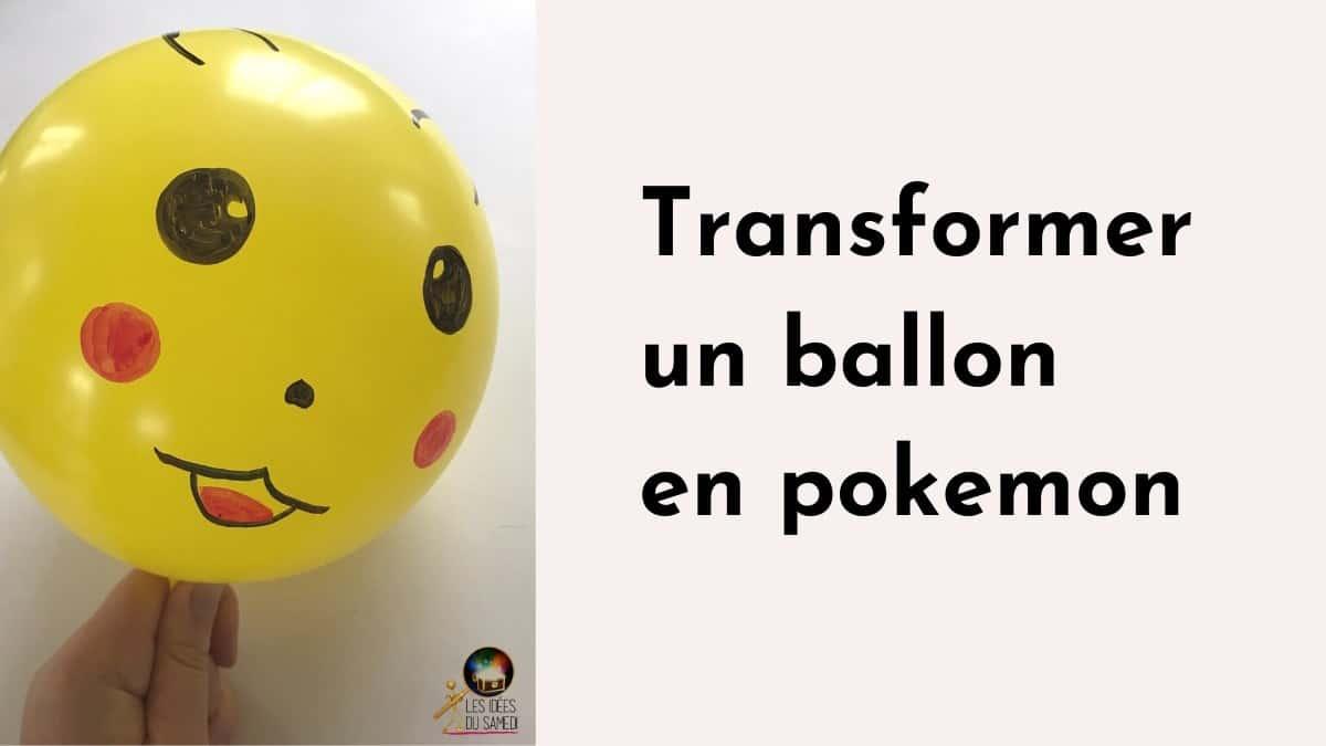 Décorer des ballons en tête de Pokémons
